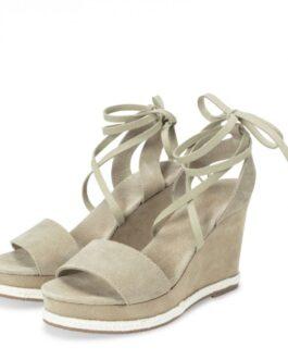 Wedge heel espadrilles