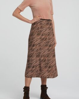 A-line skirt with print