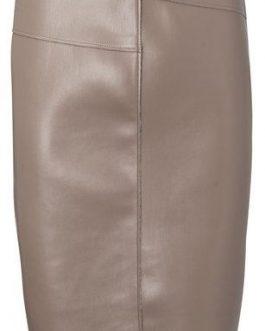 PU pencil skirt with seams