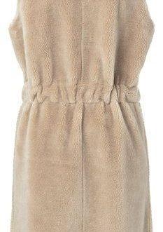 Faux shearling sleeveless coat