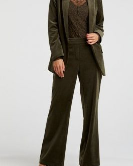 Velvet stretch trousers