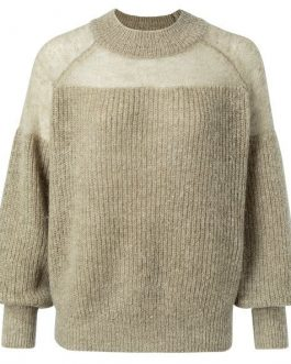 Open knitted sweater