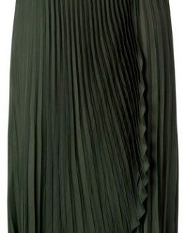 Satin faux wrapped skirt