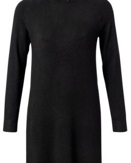 Knitted dress with roll neck