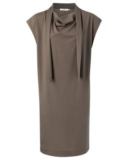 Lyocell blend midi dress