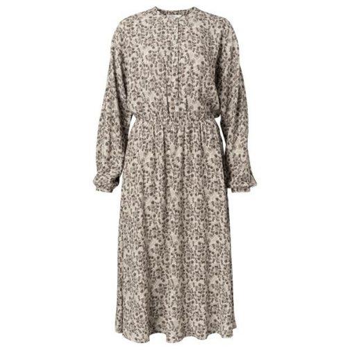 Dress with elastic waistband