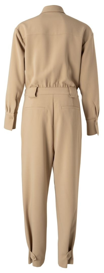 Jumpsuit with straps at leg