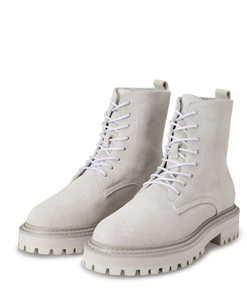 Suede boot with bulky sole