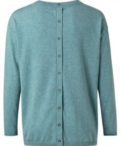 Sweater with buttons on back