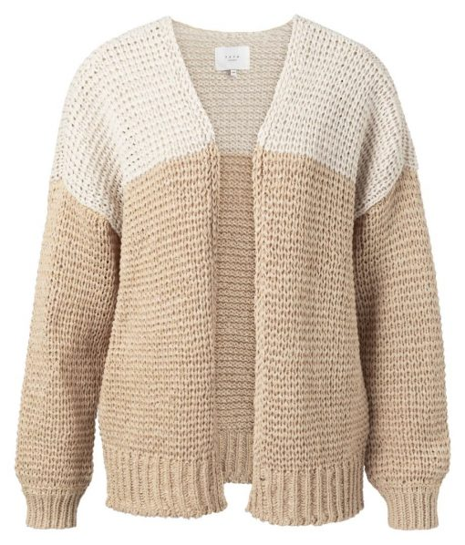 Cardigan with color blocking