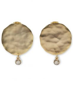 Earrings with coin and charm