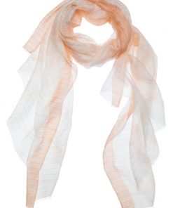 Scarf with dip dye print