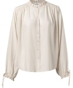 Lyocell shirt with ruffles