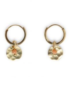 Earrings with coin and bead