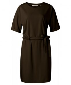 Jersey dress with cord detail