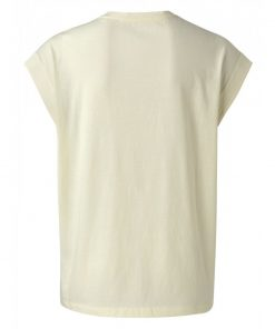 V-neck top with stitch details