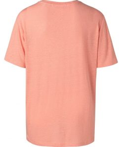 Linen tee with print