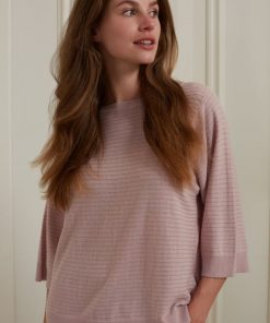 YAYA: Striped Sweater Short Sleeve
