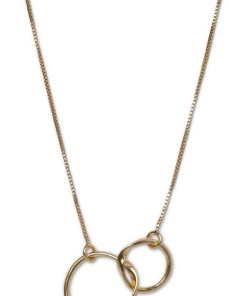 Double circle necklace with tw