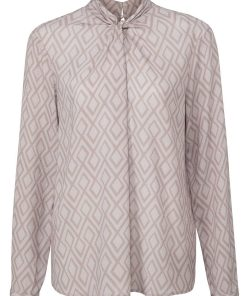 Printed top with knot detail