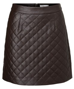 Faux Leather quilted skirt