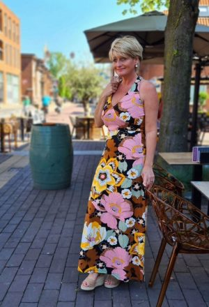 Tramontana Halter Blooming Dress