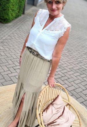 Basic-Life Maxi Leen Skirt
